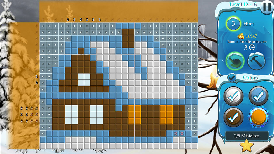 Time Twins Mosaics - Winter Splash Deluxe - Zylom