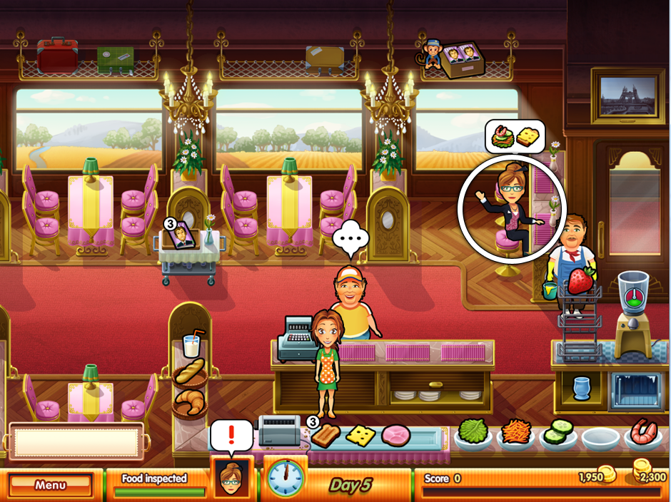 The food inspector in Fresco Diner Express