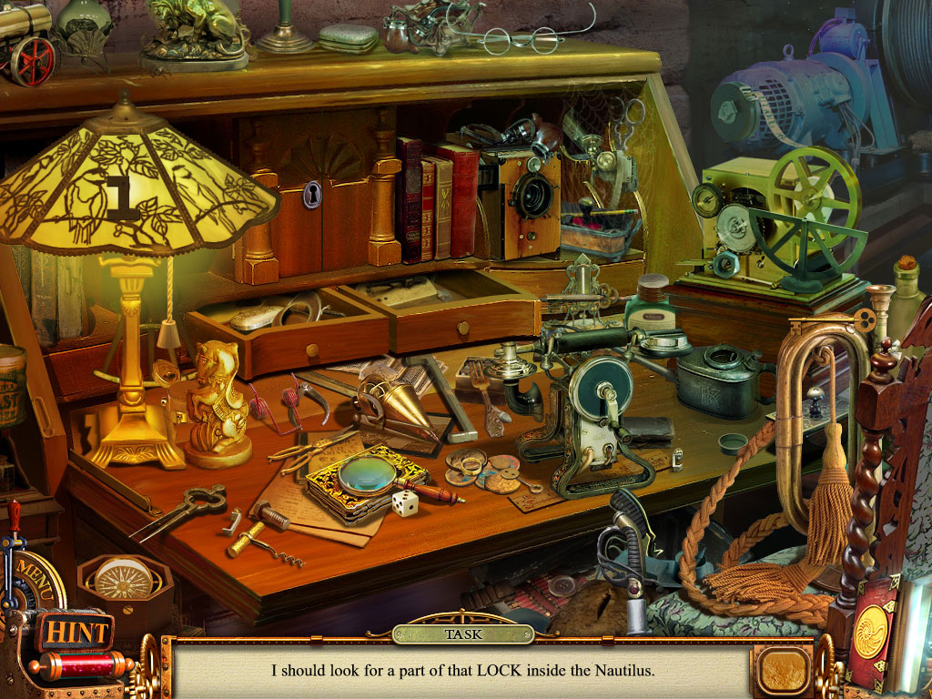 Hidden Object Scene - collect the 14 items of Nemo Secret Vulkania