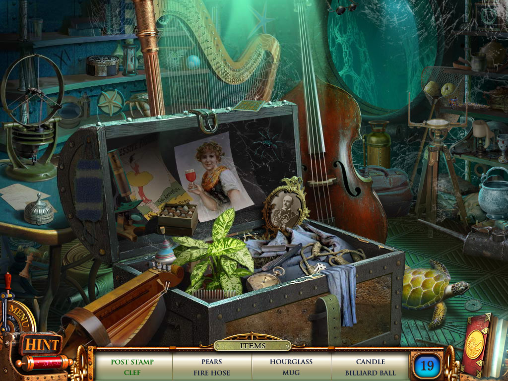 Hidden Object Scene - don't forget the tortoise