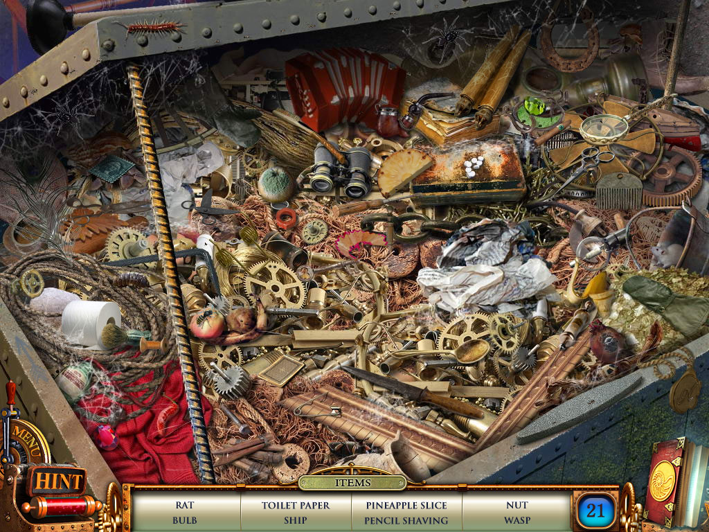 Hidden Object Scene - advanced scene - can you detect all 21 items