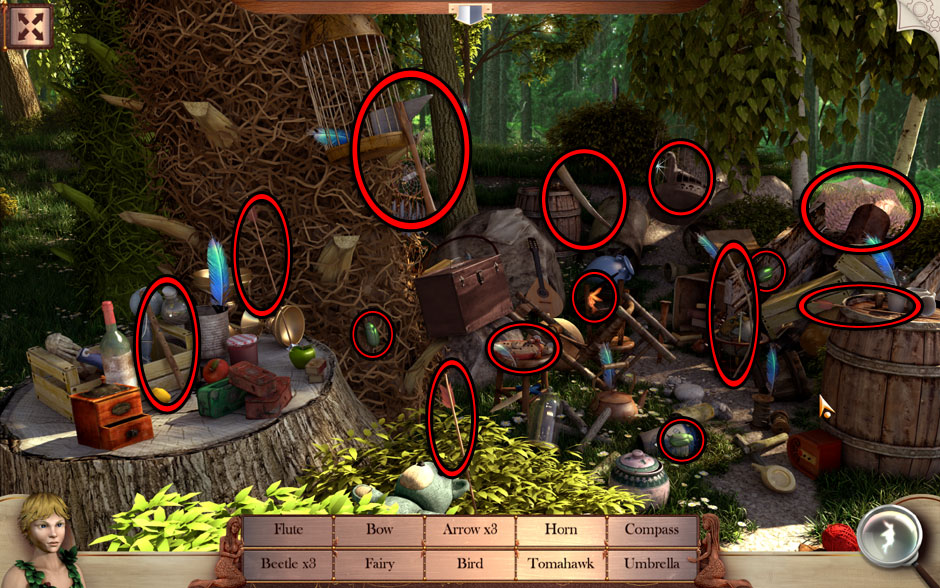 Peter and Wendy in Neverland Tree Object Locations
